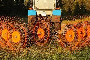 Грабли колесно-пальцевые cерии H90