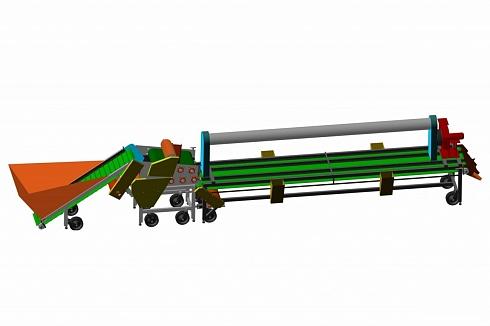 Линия для дробления и калибровки чеснока ЛПЧ